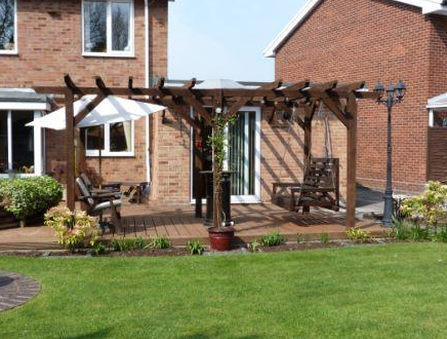 Backyard Arbor Pergola Design