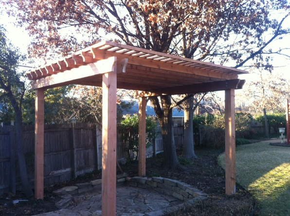 also handling pergola installation and backyard design